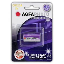 Lithiová foto baterie AgfaPhoto CR123A, blistr 1ks