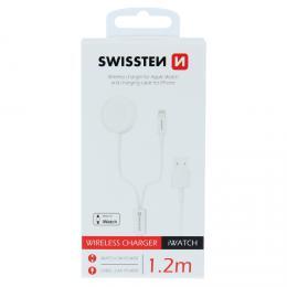 Bezdrátová nabíjeèka Swissten pro Apple Watch a kabelem lightning