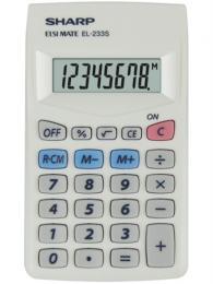 Kalkulaèka SHARP EL-233S, 8 digit, bílá