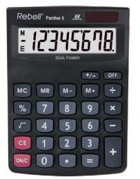 Kalkulaèka Rebell Panther 8 (RE-Panther 8 BX), èerná - zvìtšit obrázek