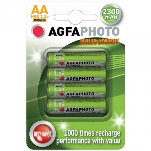 Nabíjecí NiMH Agfa Photo baterie R06 / AA, 2300mAh, blistr 4ks, AP-HR62300VE-4B