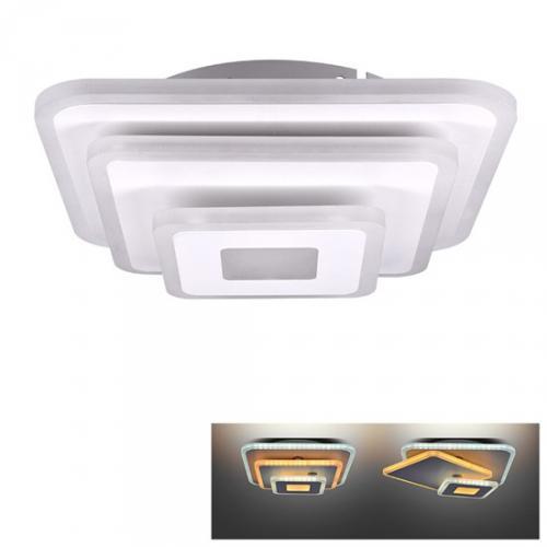 LED pøisazené svìtlo Cascade, malé ètvercové, 3000K - 6500K, 30W, 1650lm, IP20, Solight WO759 - zvìtšit obrázek