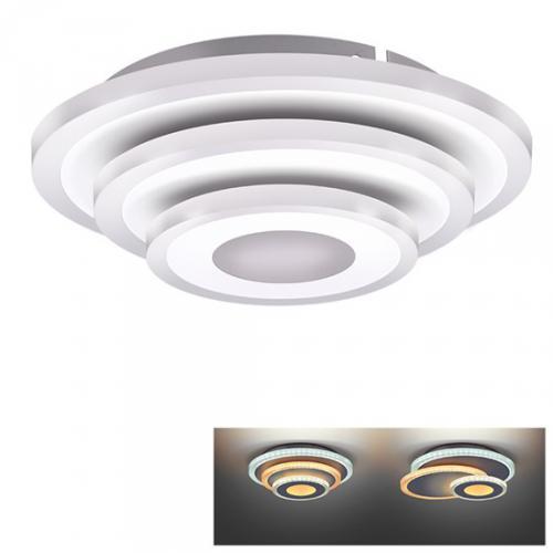 LED pøisazené svìtlo Cascade, malé kulaté, 3000K - 6500K, 27W, 1485lm, IP20, Solight WO760