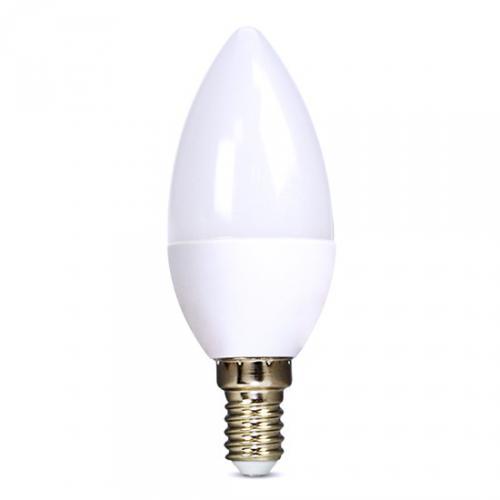 LED žárovka, svíèka, 6W, E14, 6000K, 510lm, Solight WZ421