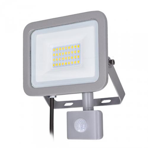LED reflektor Home se sensorem, 30W, 2250lm, 4000K, IP44, šedý, Solight WM-30WS-M