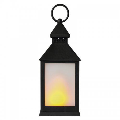 LED dekorace – lucerna mléèná, 3x AAA, èerná, vintage, EMOS ZY2345