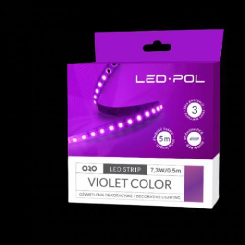 LED páska ORO-STRIP-600L-2835-NWD-VIOLET, 5m, 7,3W/0,5m, DC 12V, ORO09071