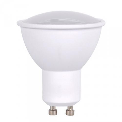 LED žárovka, bodová, 5W, GU10, 3000K, 400lm, bílá, Solight WZ316A