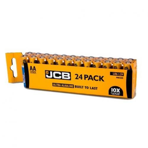 Alkalické baterie AA tužkové JCB OXI DIGITAL LR06, shrink 24 ks