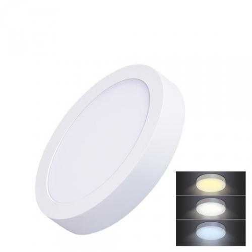 LED mini panel CCT, pøisazený, 12W, 900lm, 3000K, 4000K, 6000K, kulatý, Solight WD170