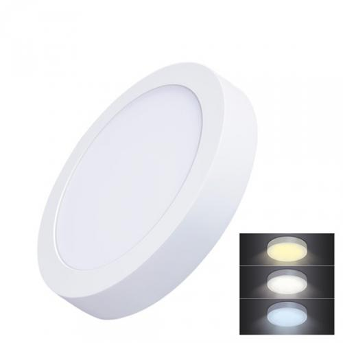 LED mini panel CCT, pøisazený, 18W, 1530lm, 3000K, 4000K, 6000K, kulatý, Solight WD172 - zvìtšit obrázek