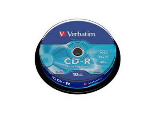 Datový nosiè CD-R VERBATIM 43437 CD-R 700MB (10-Pack Spindle) 10 ks
