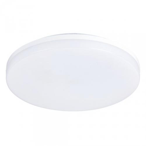LED venkovní osvìtlení, pøisazené, kulaté, IP44, 24W, 1920lm, 4000K, 28cm, Solight WO733-1 - zvìtšit obrázek