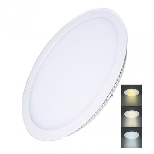 LED mini panel CCT, podhledový, 24W, 1800lm, 3000K, 4000K, 6000K, kulatý, Solight WD144