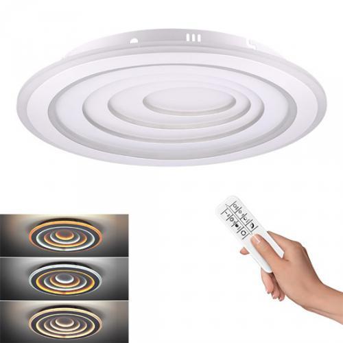 LED stmívatelné stropní svìtlo Cascade, kulaté, 76W, 4180lm, dálkové ovládání, Solight WO757