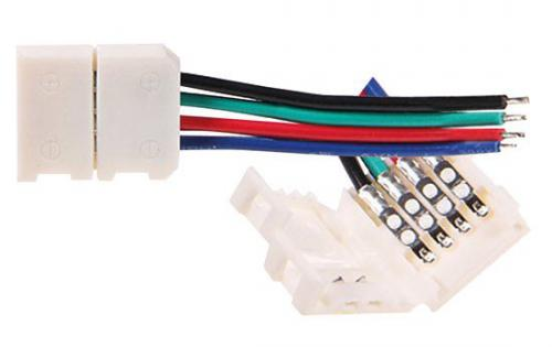 Ètyøpinový konektor CONNECT LED RGB STRIP 12mm T+T Greenlux GXLS050 - zvìtšit obrázek