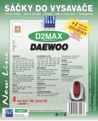 Sáèky do vysavaèe Jolly D2MAX Daewoo 4ks textilní 3023