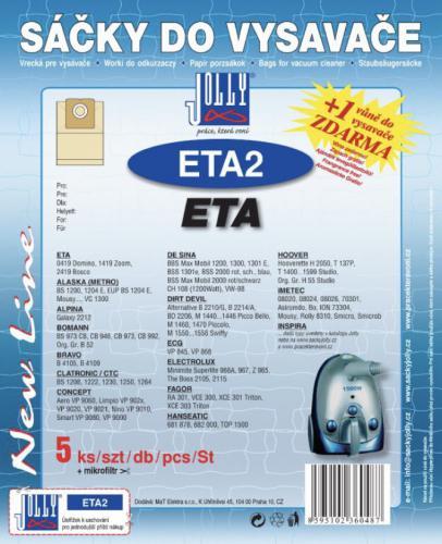 Sáèky do vysavaèe Jolly ETA2 ETA 5ks 6048