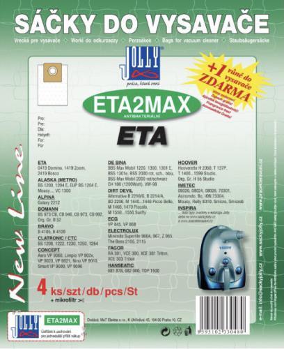 Sáèky do vysavaèe Jolly ETA2MAX ETA 4ks textilní 3048S