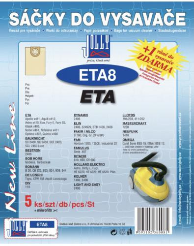 Sáèky do vysavaèe Jolly ETA8 ETA 5ks 6008