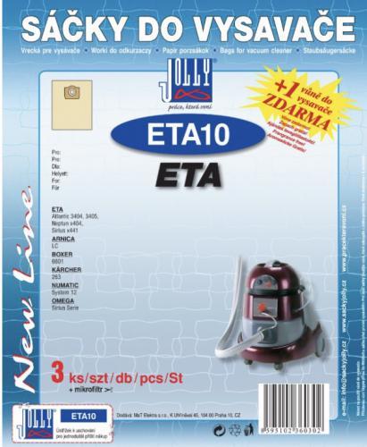 Sáèky do vysavaèe Jolly ETA10 ETA 3ks 6030