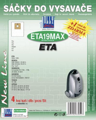 Sáèky do vysavaèe Jolly ETA19 MAX ETA textilní 4ks + 1 vùnì zdarma