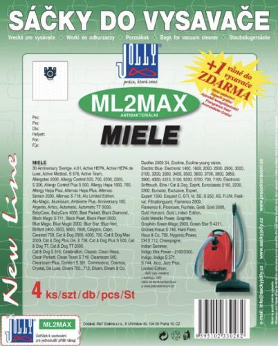 Sáèky do vysavaèe Jolly ML2 MAX Miele textilní 4ks + 1 vùnì zdarma