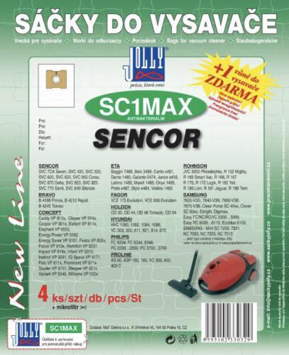Sáèky do vysavaèe Jolly SC1 MAX Sencor 4ks + 1 vùnì zdarma
