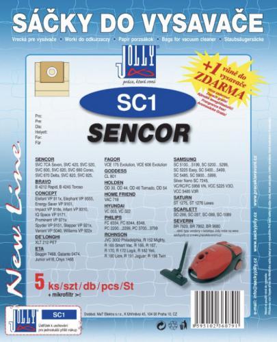 Sáèky do vysavaèe Jolly SC1 Sencor 5ks + 1 vùnì zdarma - zvìtšit obrázek