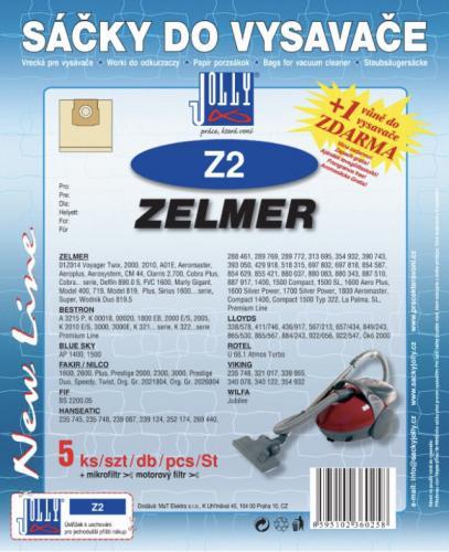 Sáèky do vysavaèe Jolly Z2 Zelmer 5ks + 1 vùnì zdarma - zvìtšit obrázek