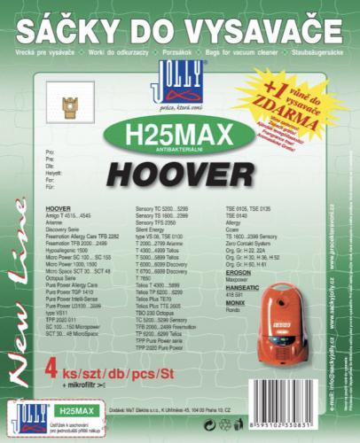 Sáèky do vysavaèe Jolly H25 MAX Hoover 4ks textilní + 1 vùnì zdarma