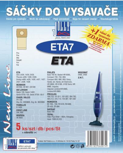 Sáèky do vysavaèe Jolly ETA 7 ETA 5ks + 1 vùnì zdarma
