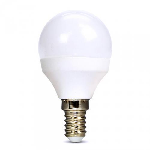 LED žárovka, miniglobe, 8W, E14, 3000K, 720lm, bílé provedení, Solight WZ425-1