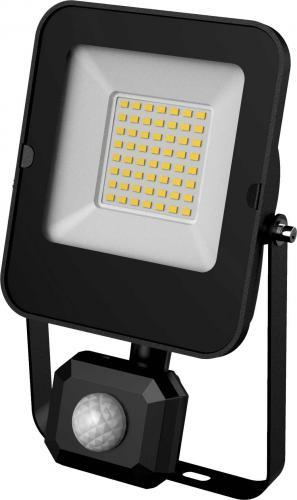 LED reflektor ALFA PIR SMD 30W CW, svorkovnice, 6000K, 3000lm, IP44, Greenlux GXLR054