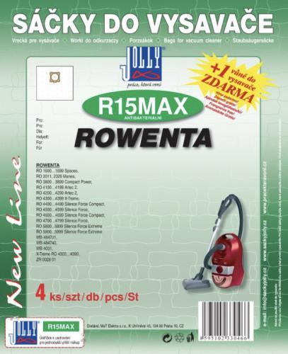 Sáèky do vysavaèe Jolly R15 MAX Rowenta 4 ks textilní + 1 vùnì zdarma