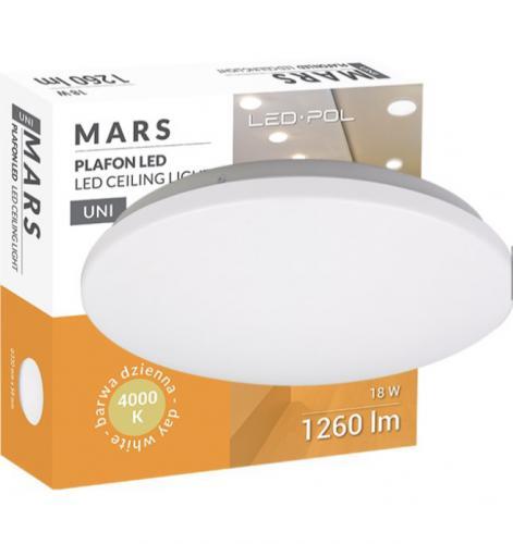 LED svítidlo LED-POL ORO-MARS-18W-DW, 18W, 4000K, 1260lm, IP20, ORO26017