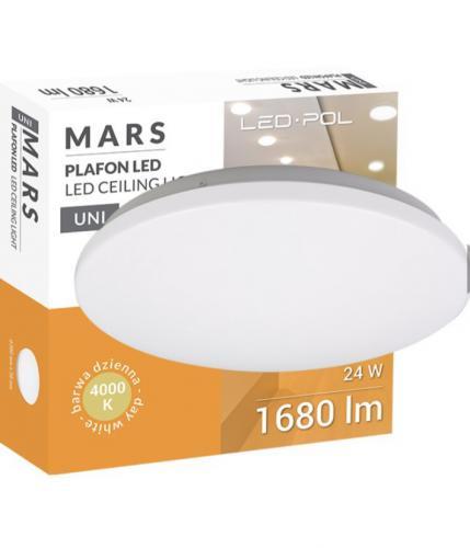 LED svítidlo LED-POL ORO-MARS-24W-DW, 24W, 4000K, 1680lm, IP20, ORO26019