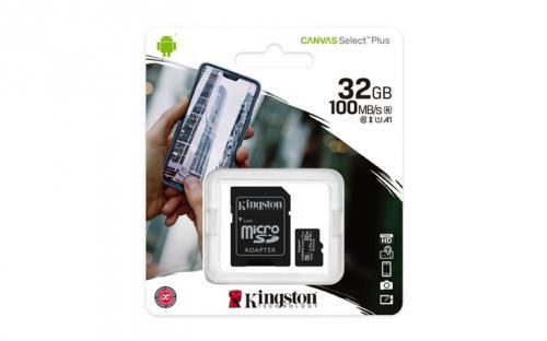 Pamì�ová karta Kingston microSDHC 32GB A1 CL10 100MB/s