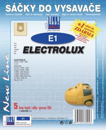 Sáèky do vysavaèe Jolly E1 Electrolux (5ks) + vùnì zdarma - zvìtšit obrázek