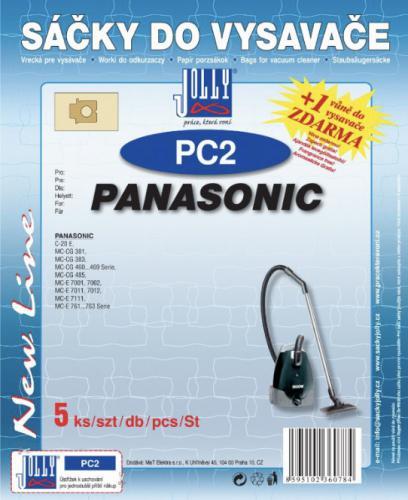 Sáèky do vysavaèe Jolly PC2 Panasonic (5ks) + vùnì zdarma - zvìtšit obrázek