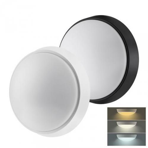 LED venkovní osvìtlení s nastavitelnou CCT, 12W, 900lm, 22cm, IP54, 2v1 - bílý a èerný kryt, Solight WO778