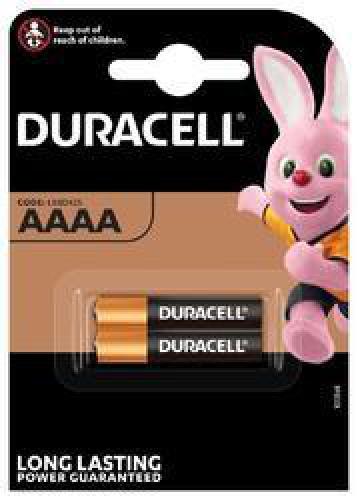 Alkalické baterie Duracell AAAA, 1,5V, LR8D425, blistr 2 ks - zvìtšit obrázek