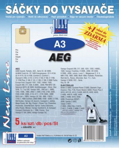 Sáèky do vysavaèe Jolly A3 AEG (5ks) + vùnì zdarma