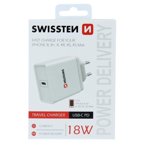 Sí�ový adaptér Swissten Power Delivery USB-C 18W