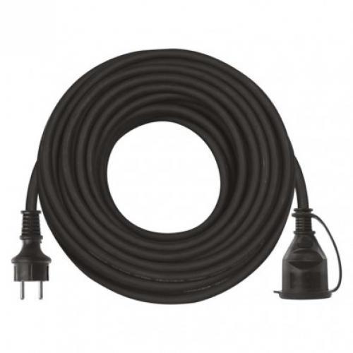 Prodlužovací kabel gumový – spojka, EMOS P01720, 1z, 20m, 3x 1,5mm2, IP44, 1901212000