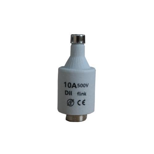 Pojistka keramická DII-10A normální 500V èervená - zvìtšit obrázek