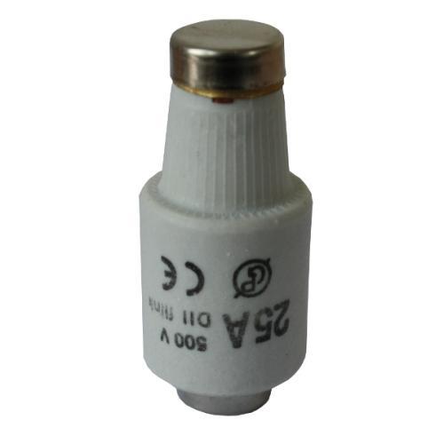 Pojistka keramická DII-25A normální 500V žlutá - zvìtšit obrázek