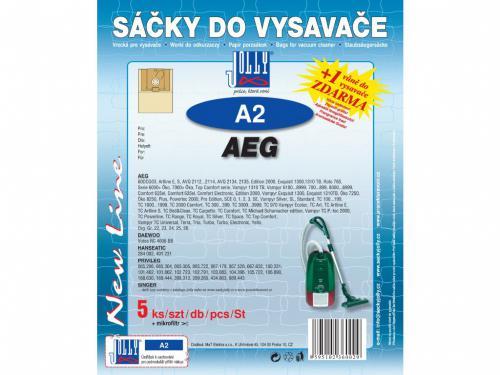 Sáèky do vysavaèe Jolly A2 AEG papírové (5ks) + vùnì zdarma - zvìtšit obrázek