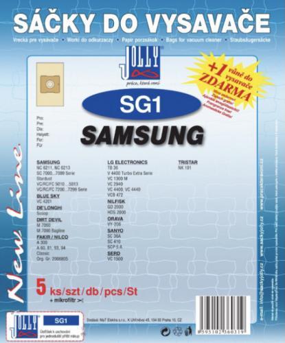 Sáèky do vysavaèe Jolly SG1 Samsung papírové (5ks) + vùnì zdarma