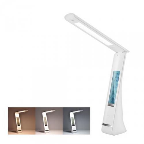 LED stolní lampièka nabíjecí, 5W, display, zmìna chromatiènosti, USB, bílá, Solight WO58-W - zvìtšit obrázek